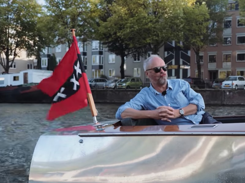 Electric Boats - on the canals of Amsterdam with Jonny & Robert