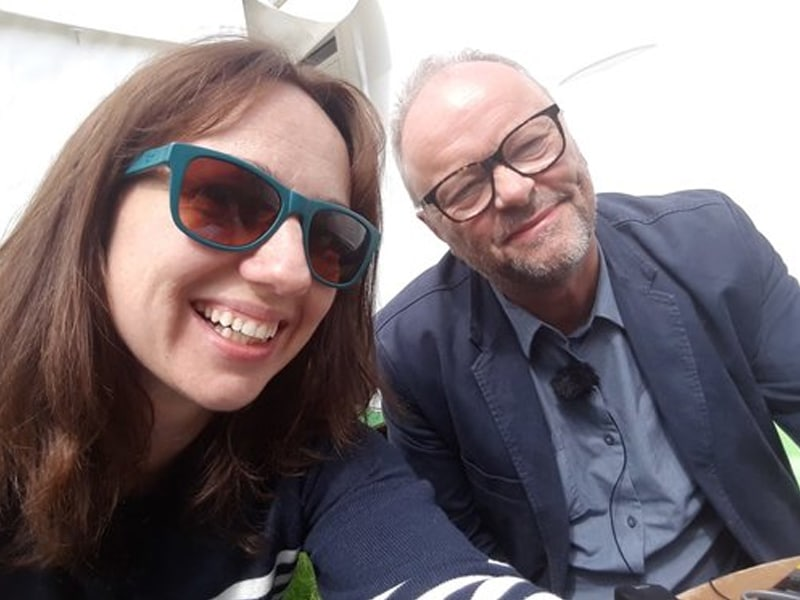 Robert Llewellyn with Fiona Howarth