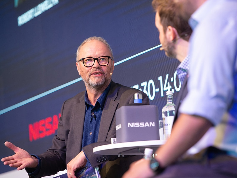 Robert Llewellyn in discussion with Simon Moores and Mark Newman
