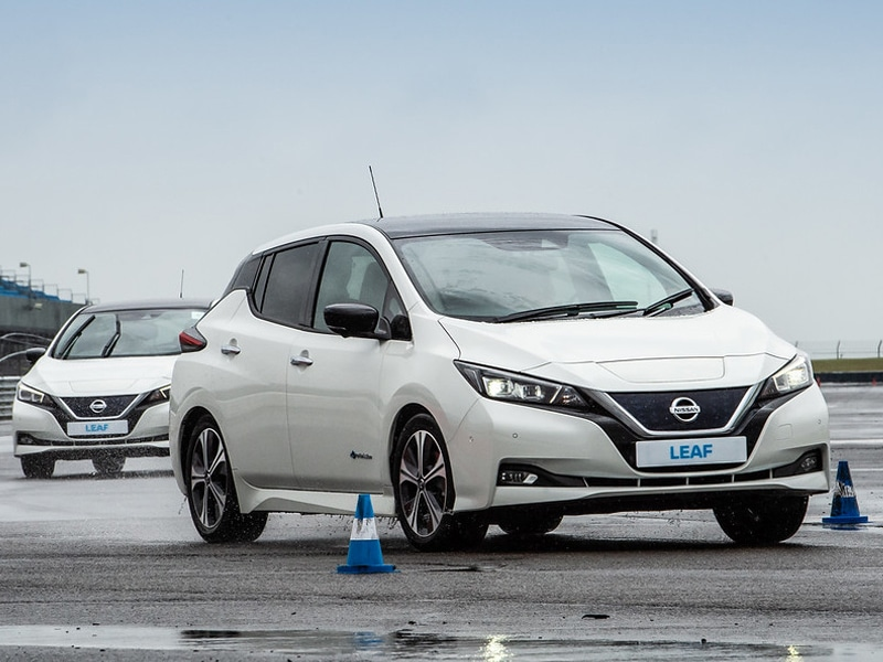 The Nissan Leaf in action