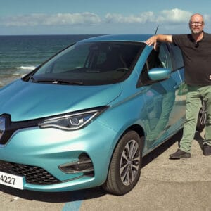 Robert and the new Renault Zoe in Sardinia