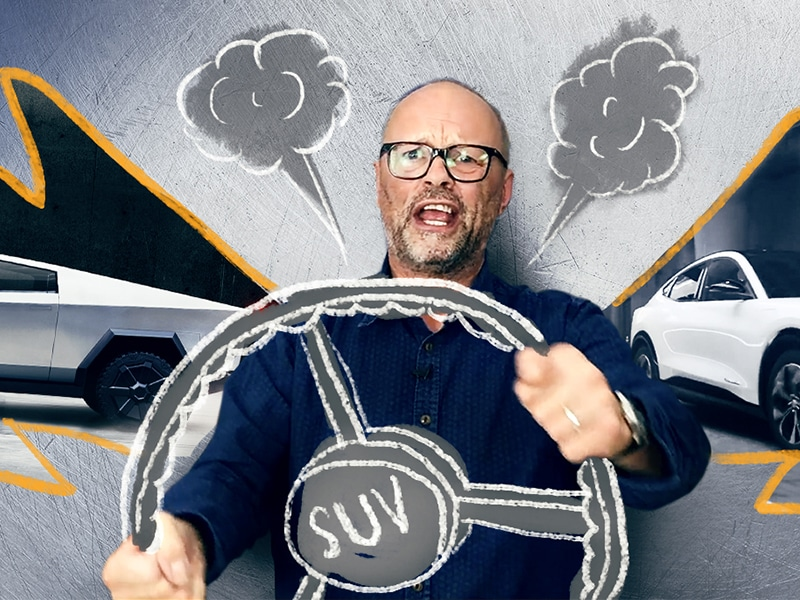 Tesla Cybertruck, Ford Mustang Mach-E & the problem with SUV's with Robert Llewellyn