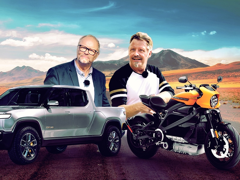 The Long Way Up with Charley Boorman + Harley Davidson & Rivian - Fully Charged