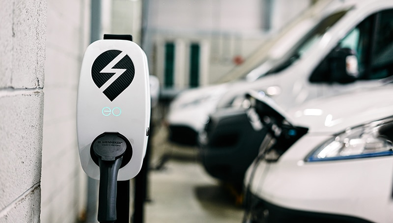 EO Genius smart charger for commercial electric vehicles