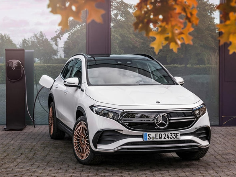 The Mercedes EQA, 100% electric hatchback, no wait, small SUV