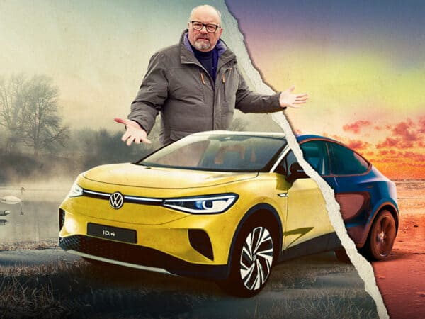 VW I.D 4 First Drive with special guest from America - Robert Llewellyn & Ben Sullins Fully Charged