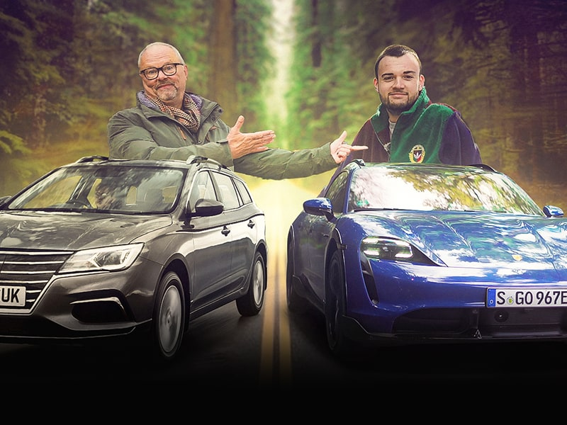 MG5 & PORSCHE TAYCAN Cross Turismo – Which is the most important electric estate car? Fully Charged