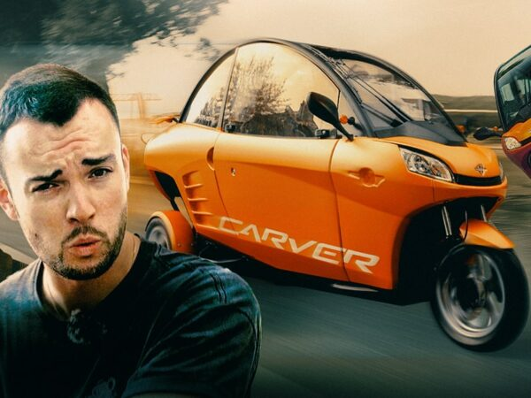 Is this LEANING 3-wheeled microcar the future of city transport? Carver EV first drive