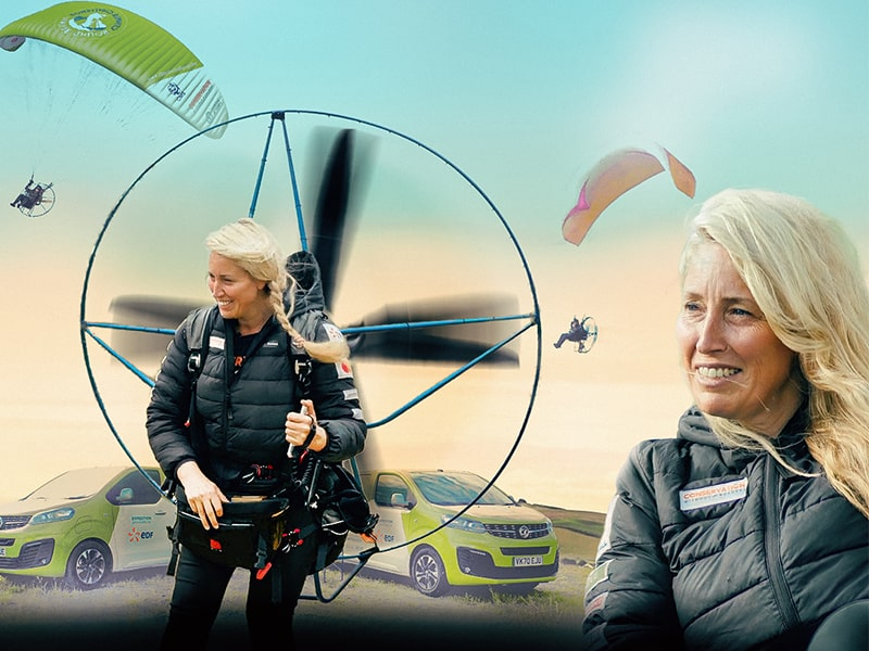 Sacha Dench Climate Challenge – follow her electric flight challenge around the UK