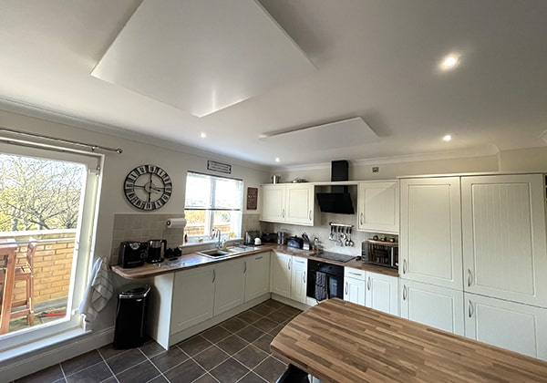 Jigsaw infrared heaters kitchen ceiling